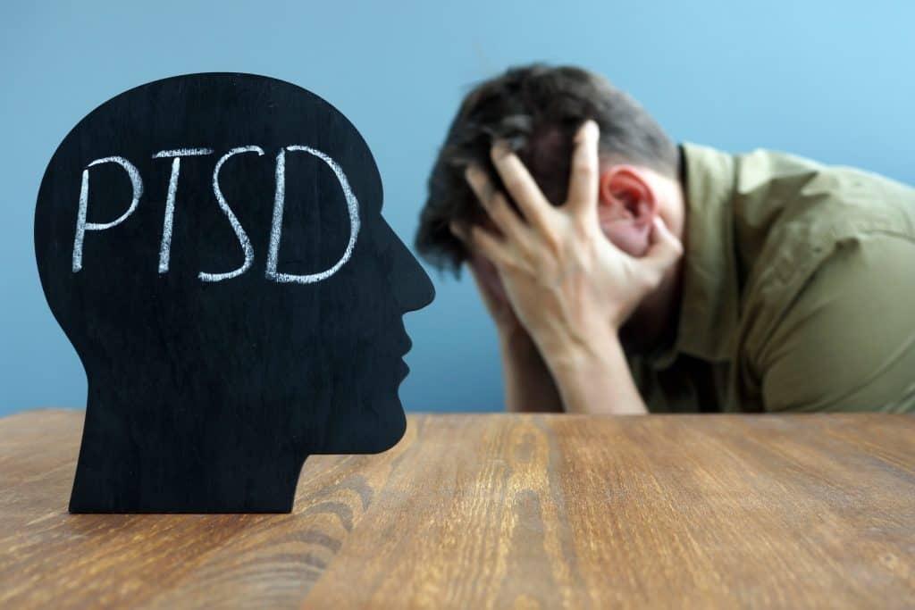 Man suffering from PTSD.